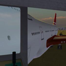 Blick von der Fluggastbrücke