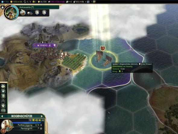 Civ5 - Einheiten auf Küstenfeldern