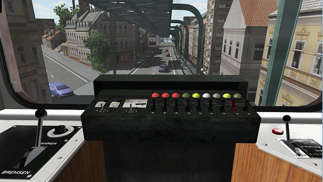 Cockpit Schwebebahn Wuppertal (Schwebebahn-Simulator 2013)