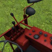 Cockpit des Mähdrescher Fahr M66