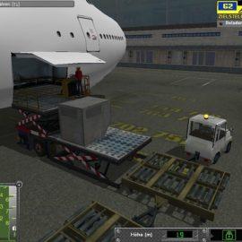 Flugzeug beladen