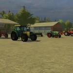 Fuhrpark auf dem Bauernhof Hagenstedt (Screenshot: Landwirtschafts-Simulator 2013)