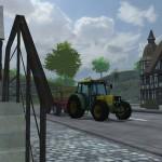 Mit dem Büher 6135 in Hagenstedt unterwegs (Sceenshot: Landwirtschafts-Simulator 2013)