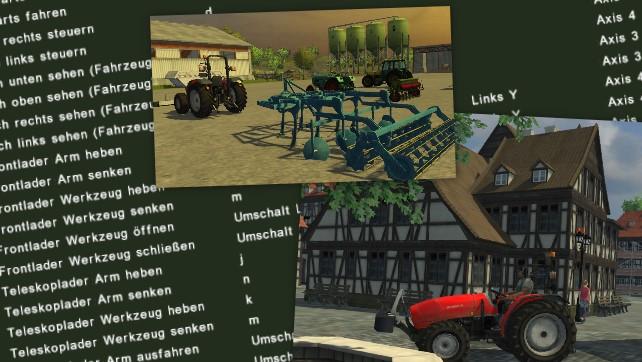 Tastaturbelegung beim Landwirtschafts-Simulator 2013