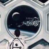 Szene aus Beyond Earth Trailer (Blick auf Raumschiff)