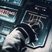 Szene aus dem Beyond Earth Trailer (Raumschiffsteuerung)