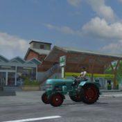 Tankstelle und Baumarkt