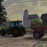Traktor Bührer 6135 mit Anhänger (Screenshot: Landwirtschafts-Simulator 2013)