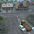 Kaum Verkehr und doch wird es an der Kreuzung eng (Screenshot: Landwirtschafts-Simulator 2013)
