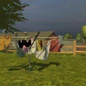 Schwarze Unterwäsche auf dem Wäschetrockner