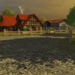 Wohnhaus auf dem Bauernhof Hagenstedt (Screenshot: Landwirtschafts-Simulator 2013)